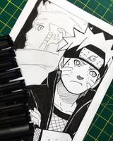 Naruto and Ashura by artxnoa