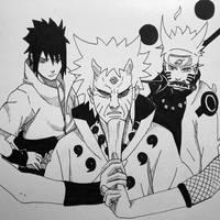 The Sun and Moon - Naruto, Sasuke, Hagoromo