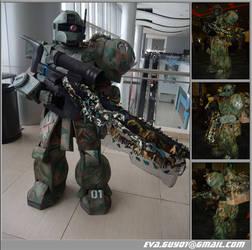 MS-05L Zaku - Sniper Custom by eva-guy01