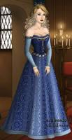 16th century Aurora - Blue Dress