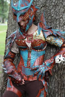 Copper Dragon Armor 2 by JAFantasyArt