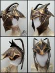Black Mantis Dragon Leather Helmet