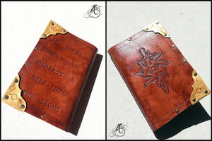 Inquisition Leather Journal by JAFantasyArt