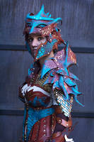 Copper Dragon Armor 4 by JAFantasyArt
