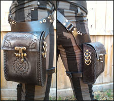 Steampunk Hip Holster Pouch