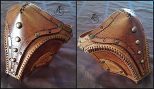 Steampunk Leather Lower Face Mask