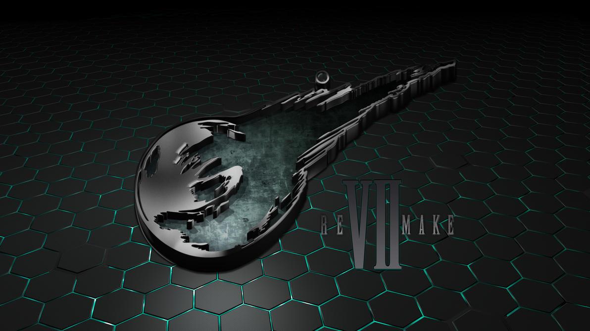 final fantasy vii remake logo wallpaper by seraharcana on