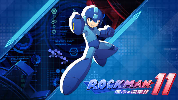Rockman 11 Wallpaper - Double Gear Variant