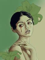 Flower Girl - [Krita] by BethellisHeavelyn