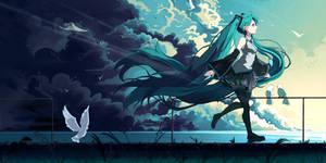 Hatsune Miku Fanart - Study [Krita] by BethellisHeavelyn