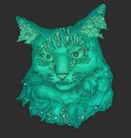 Cat Illustration Commission by BethellisHeavelyn