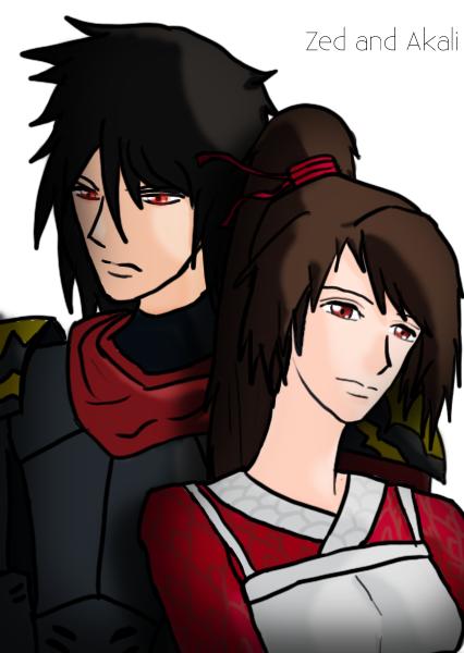Zed and akali