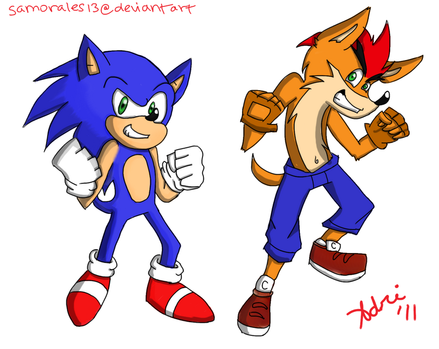 Crash and Sonic FTW by samorales13