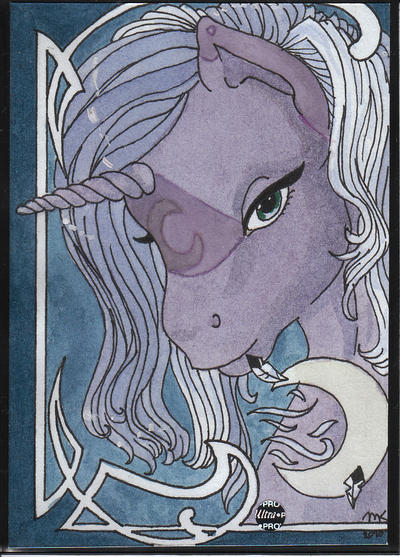 Pony ATC Swap - Moonbreeze by ManekinekoNoHime