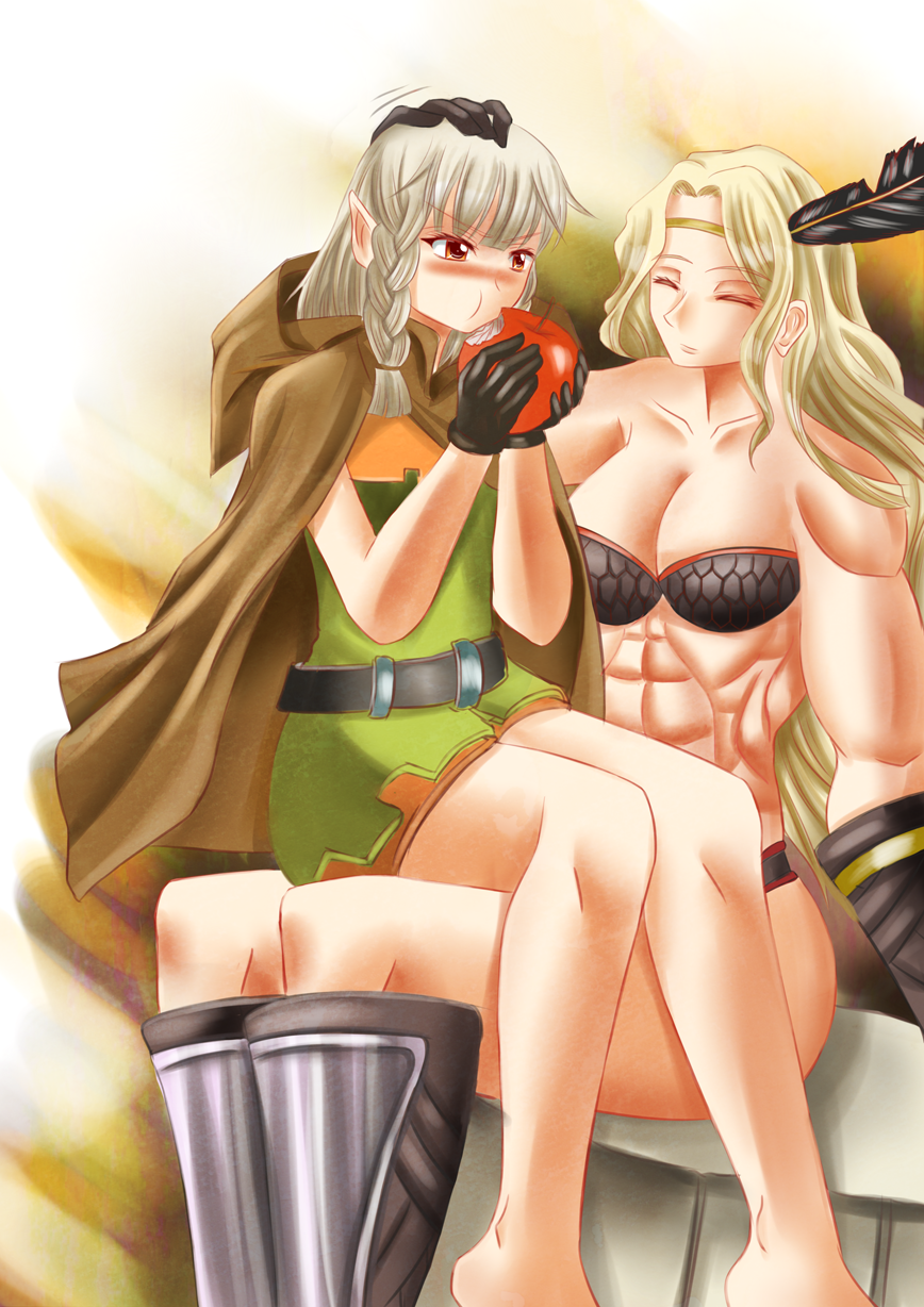 Dragons Crown-Elf and Amazon- by K-Nashi