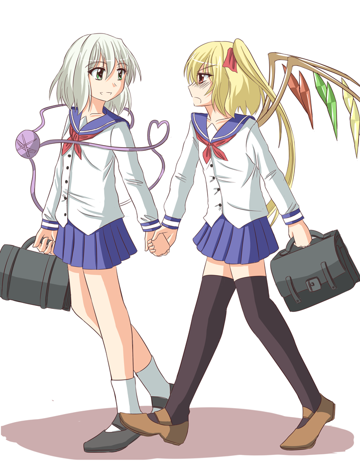 Touhou-to school together- by K-Nashi