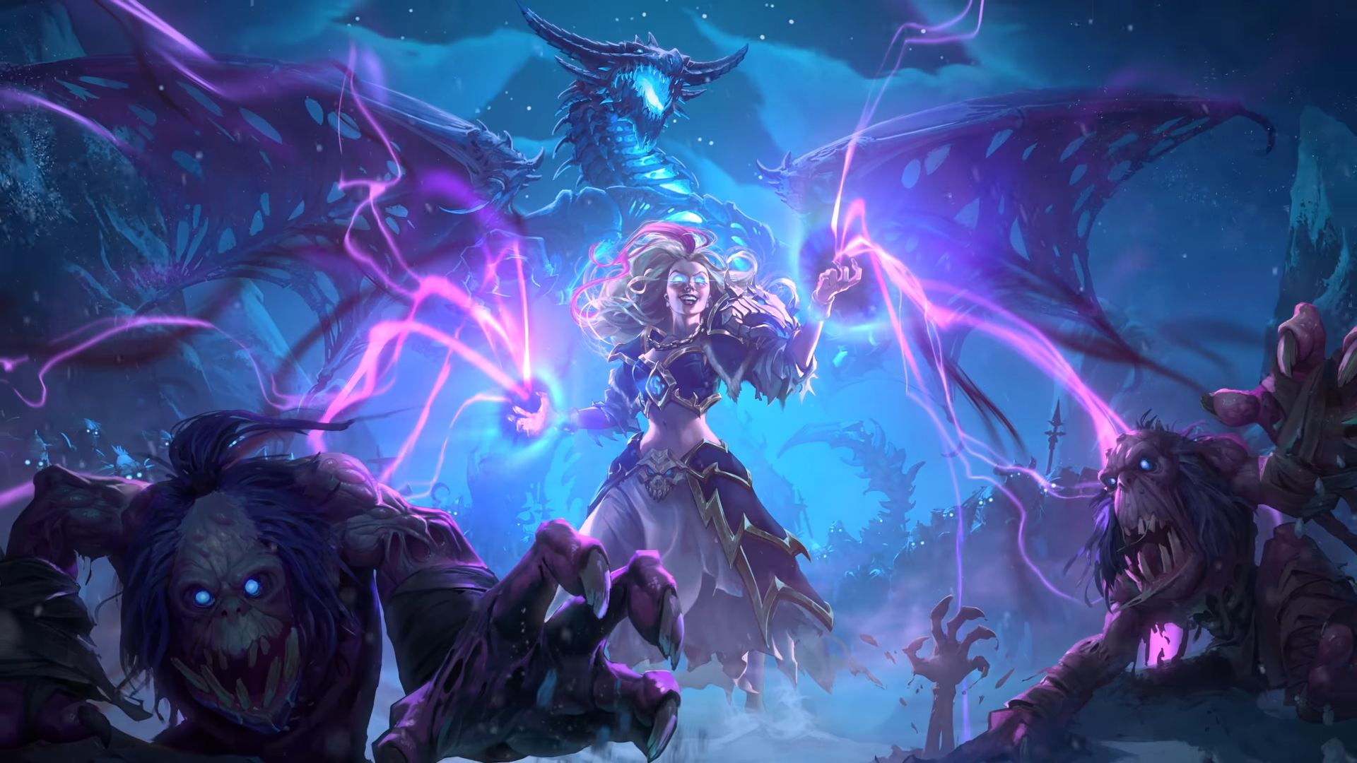 Hearthstone Knights Of The Frozen Throne Jaina2 By Dabadalia On