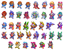 Megaman ZX plushies PDsprites by CrystalViolet500