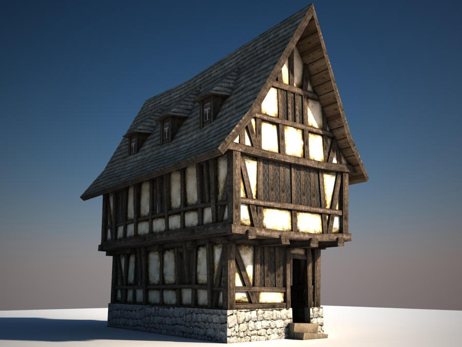 Old Timber Frame House By Qwertzus On Deviantart