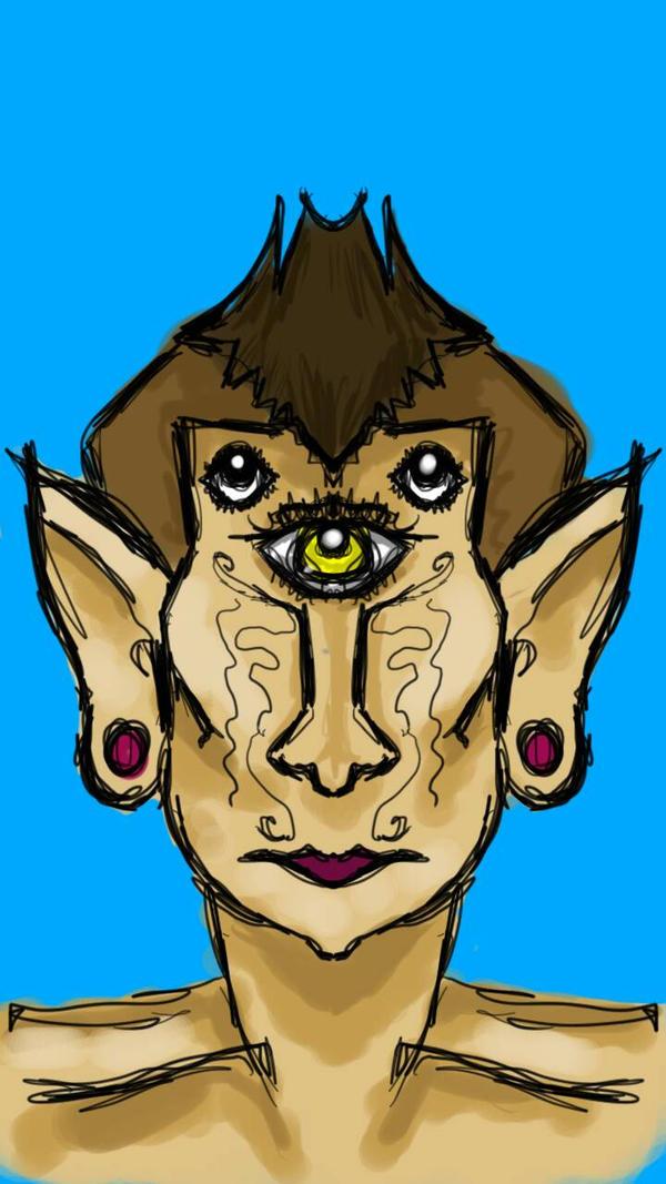 3 eyed man by ArtemisHinataPeace