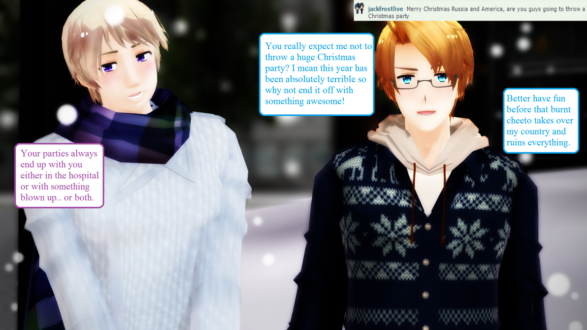 Ask RusAme Question 17: Christmas by MMD-AskRusAme