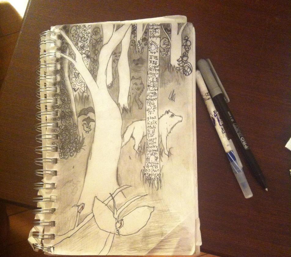 Whisper woods by Wolfrain98