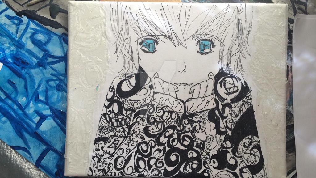 Blue eyes  by Wolfrain98