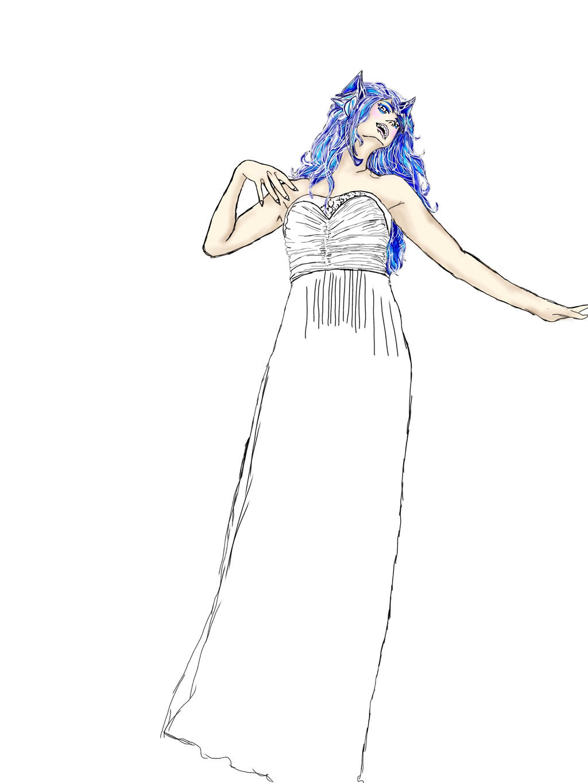 luna dancing by Wolfrain98