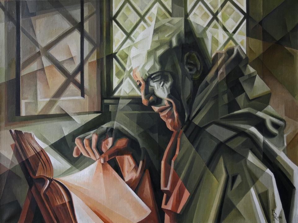 Chronicler. Cubo-futurism. Krotkov Vassily. 2016 by ... Русский Футуризм в Живописи