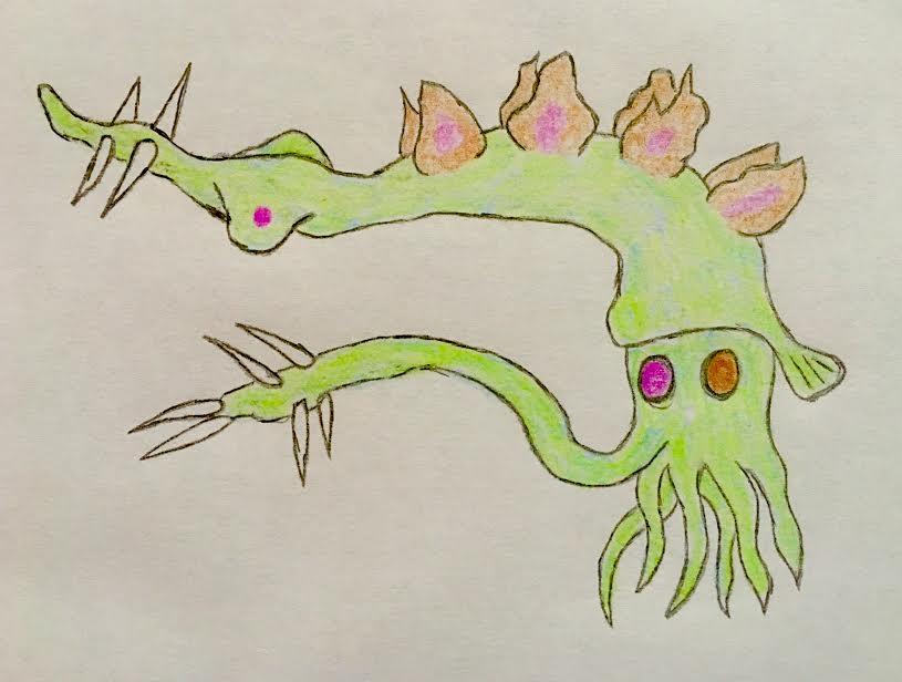 Stegosaurus squid by VaughnVicious