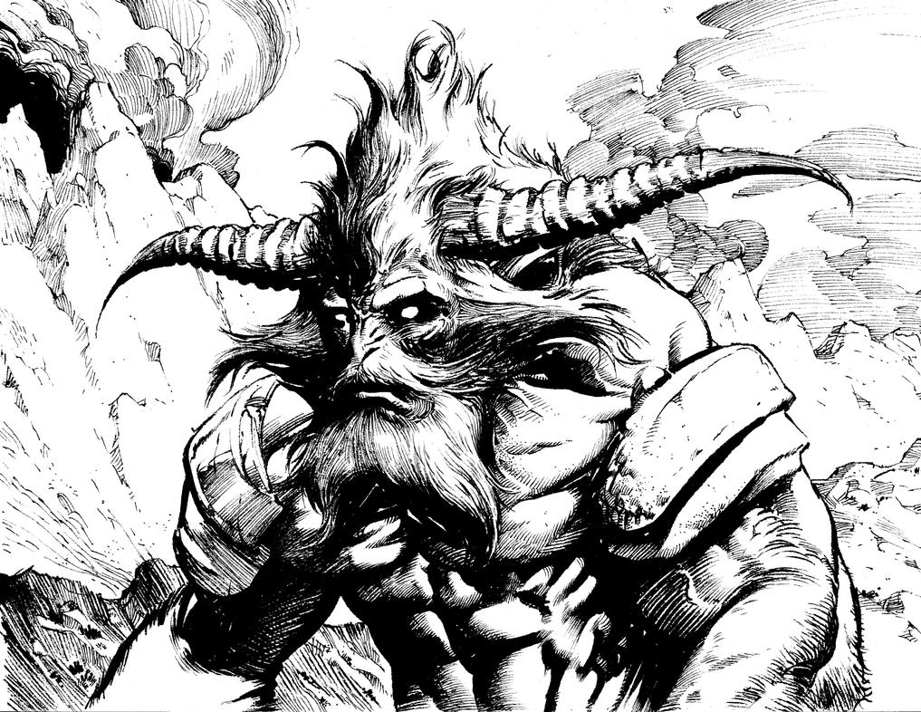 Horned Beast by anghorkheng