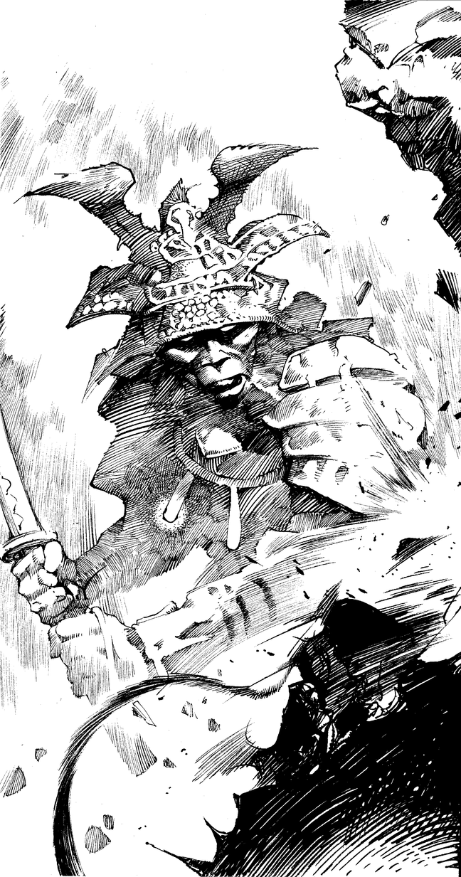 Samurai Sketch Practice by anghorkheng