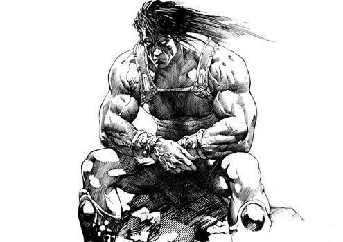 Brooding Barbarian
