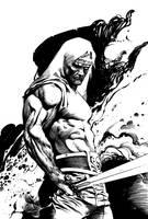 Barbarian Sketch by anghorkheng