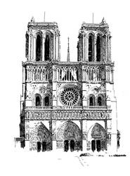 Notre Dame Sketch by anghorkheng