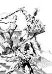 Hilde Ambushing Chief Orc