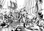 Battle on Ship Deck