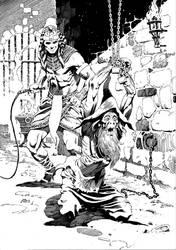 Wizard being Tortured