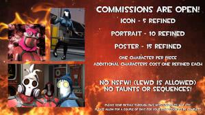 BonOakley's Commission Sheet 2018!