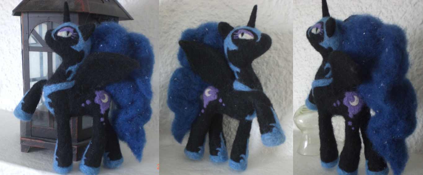 Nightmare Moon (Needle-felted) FOR SALE by Holcifio