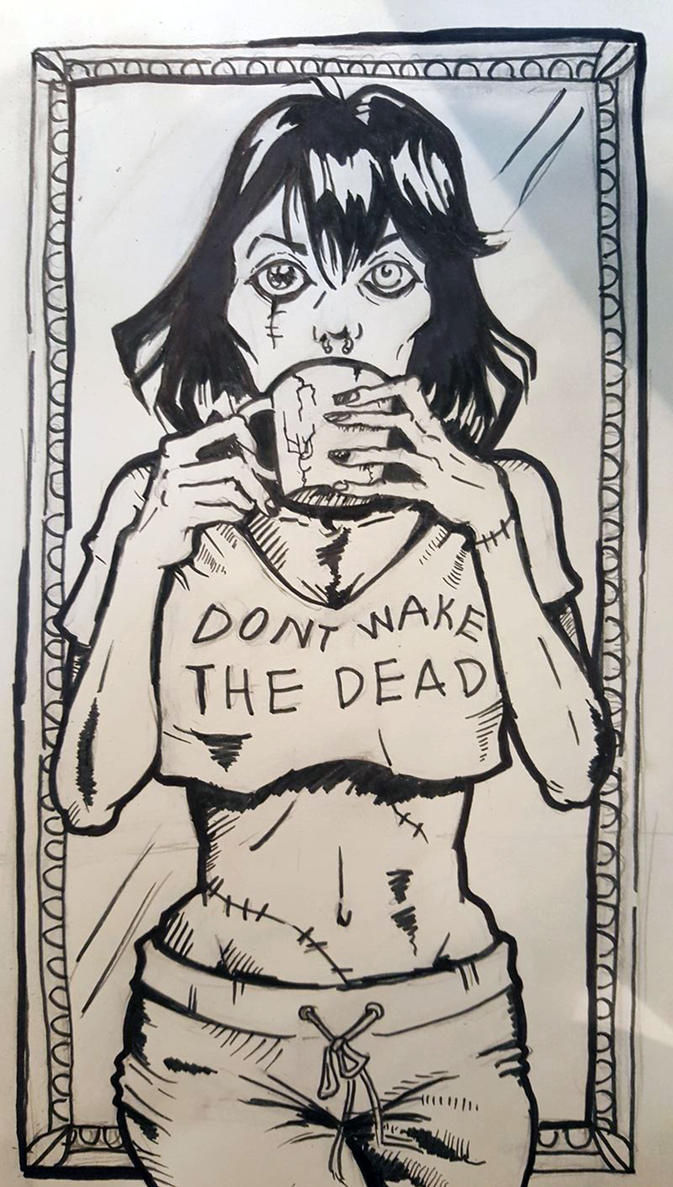 Don't Wake the Dead: Inktober by ArtsAflame
