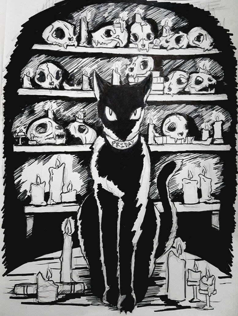 Friday XIII: Inktober by ArtsAflame