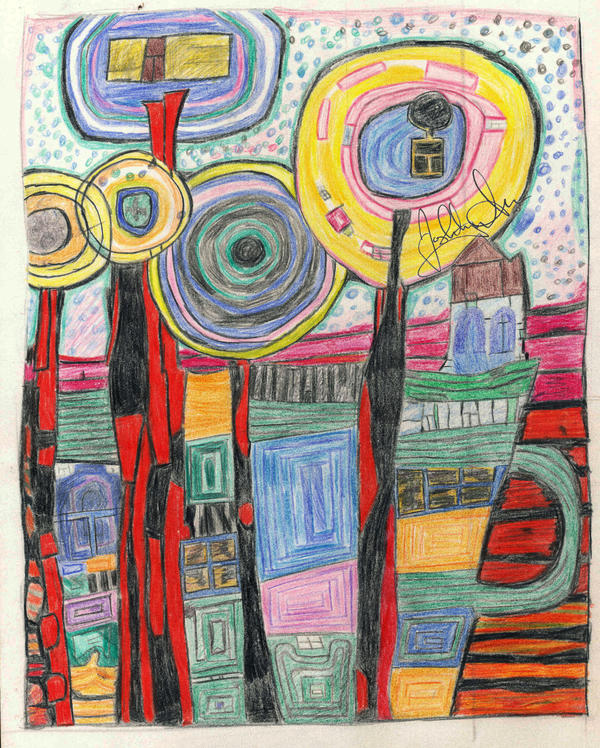 Hundertwasser re-creation by PinkCarrots