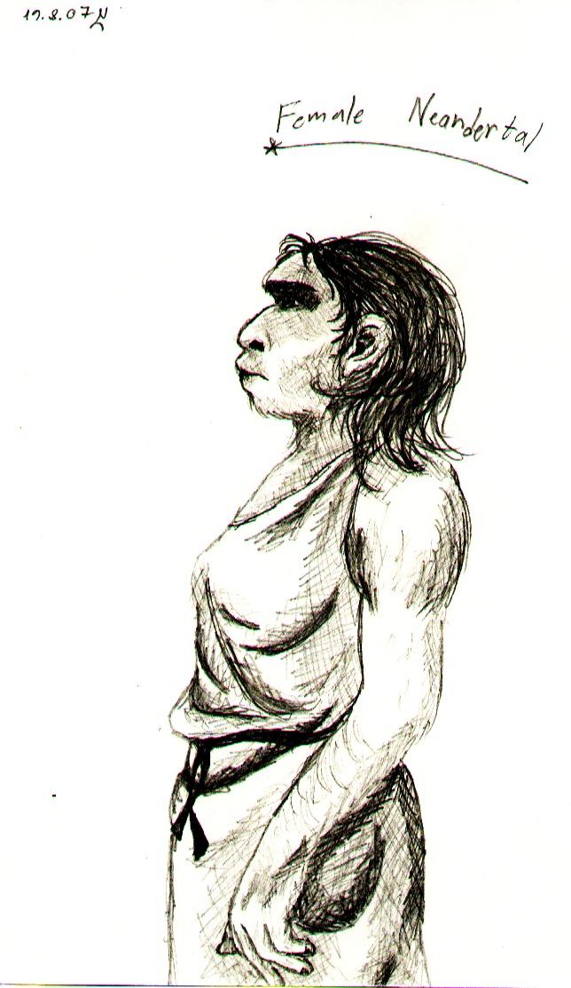 Female Neanderthal by Scrann