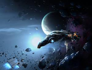 Repairing space ship