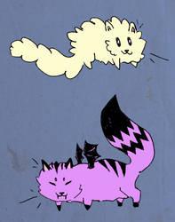 Bean Cats by ephemera8