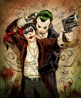 Joker and Harley by dhayman85