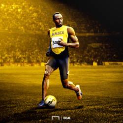 Usain Bolt como futbolista by Luletrocks