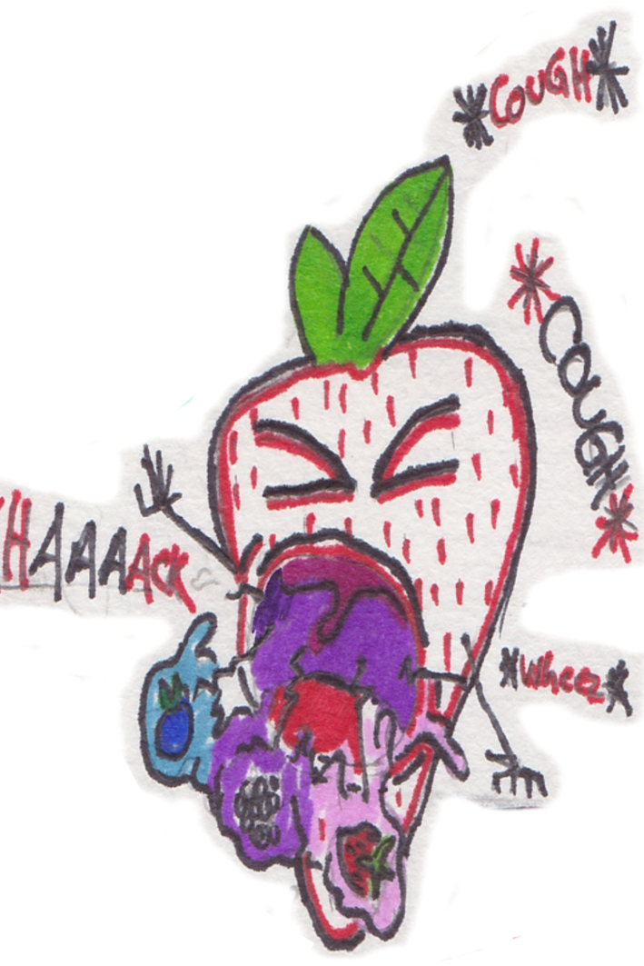 Strawberry CoughT-Berry Goo by fluX-haus-art