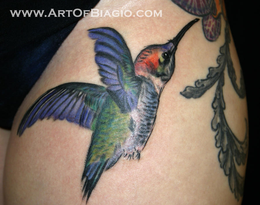 Tattoo images by ronnie atkins for Hummingbird hip tattoo